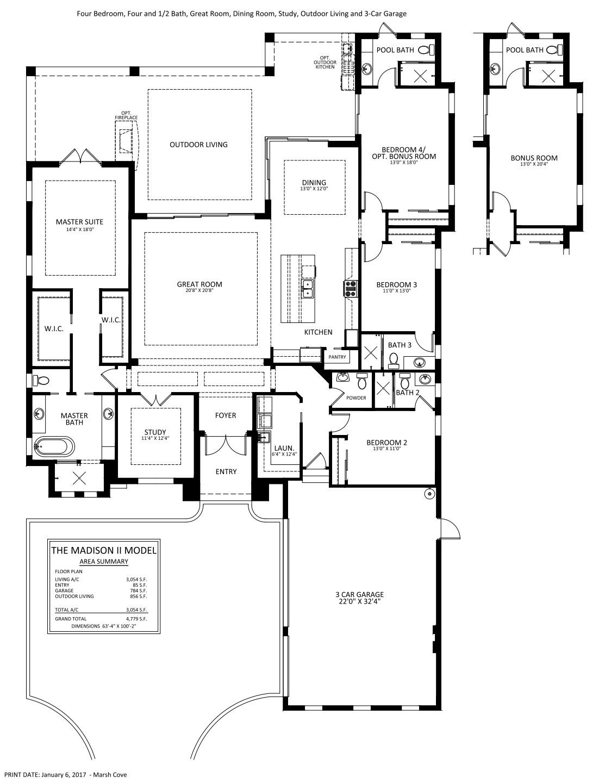 Madison II Floorplan