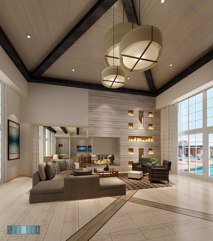 Clubhouse Nearly Complete At Spectra Apartments: Furnished Model Open