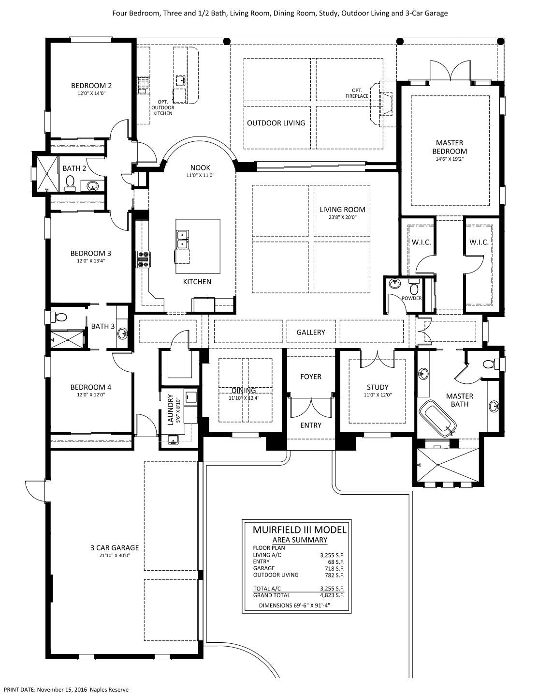 Muirfield III Floorplan