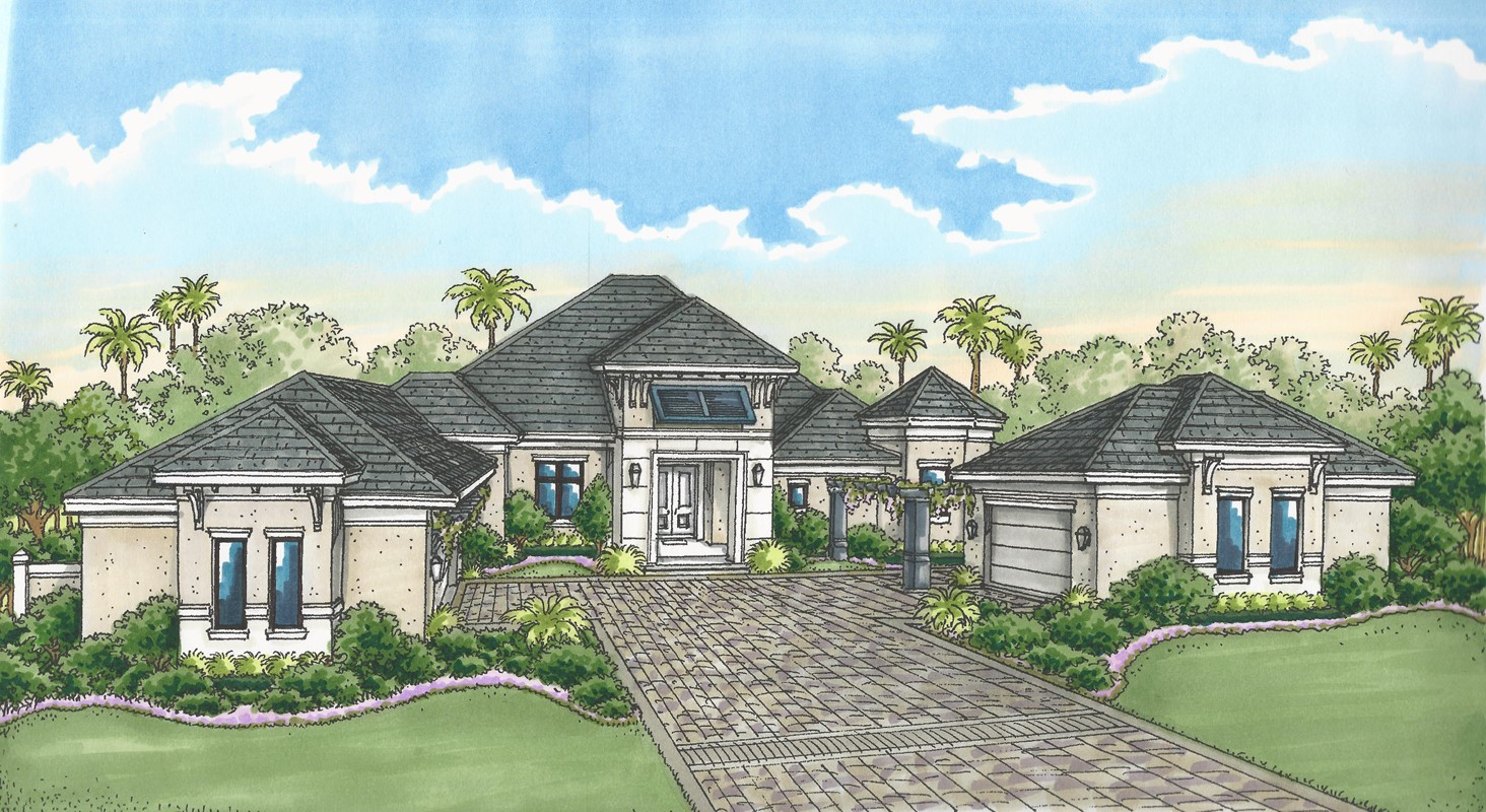 Florida Lifestyle Homes' Brynwood Under Construction in Quail West