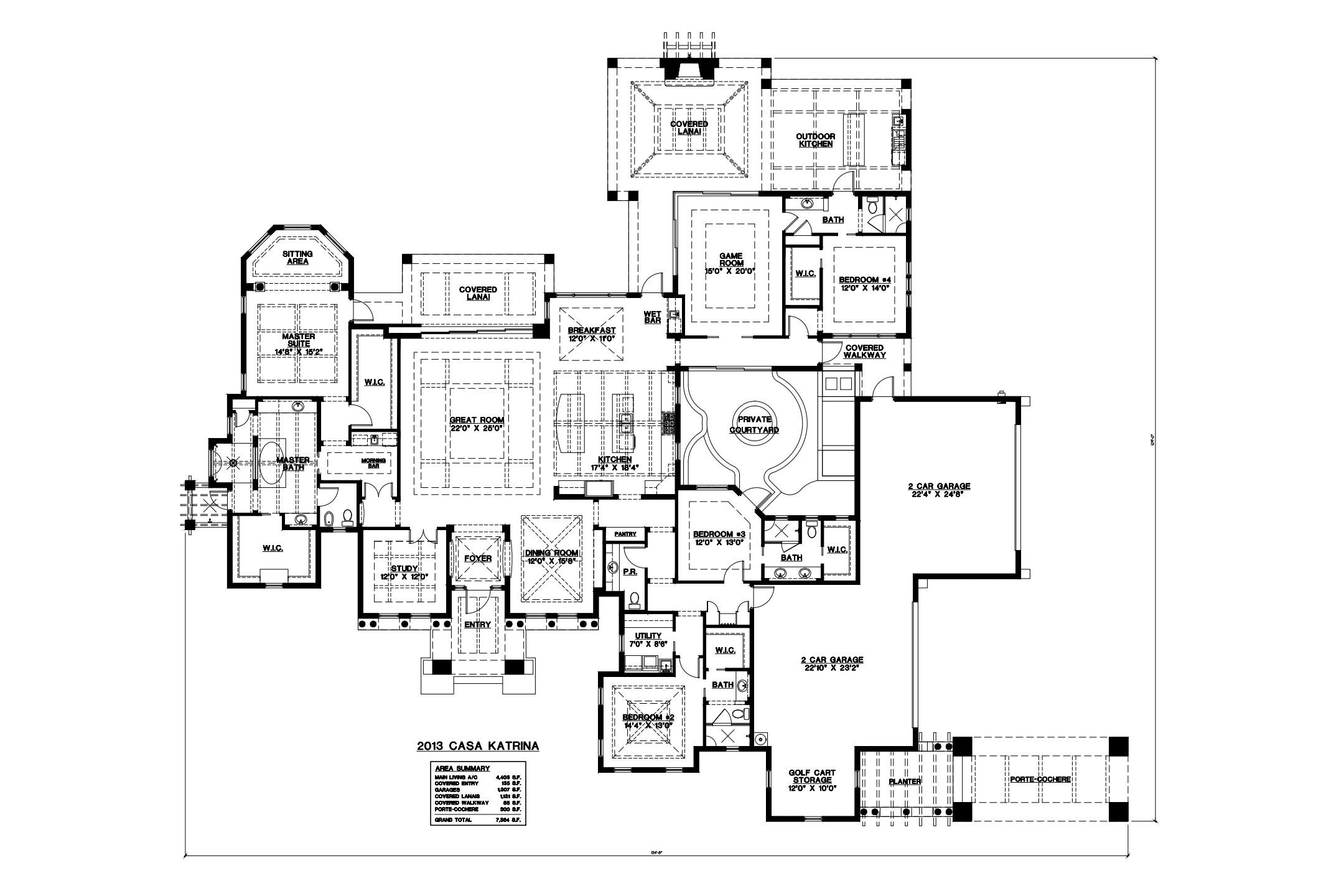 Casa Katrina Floorplan