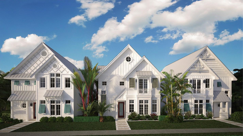 Stock Custom Homes' Row House to Feature Coastal Contemporary Design