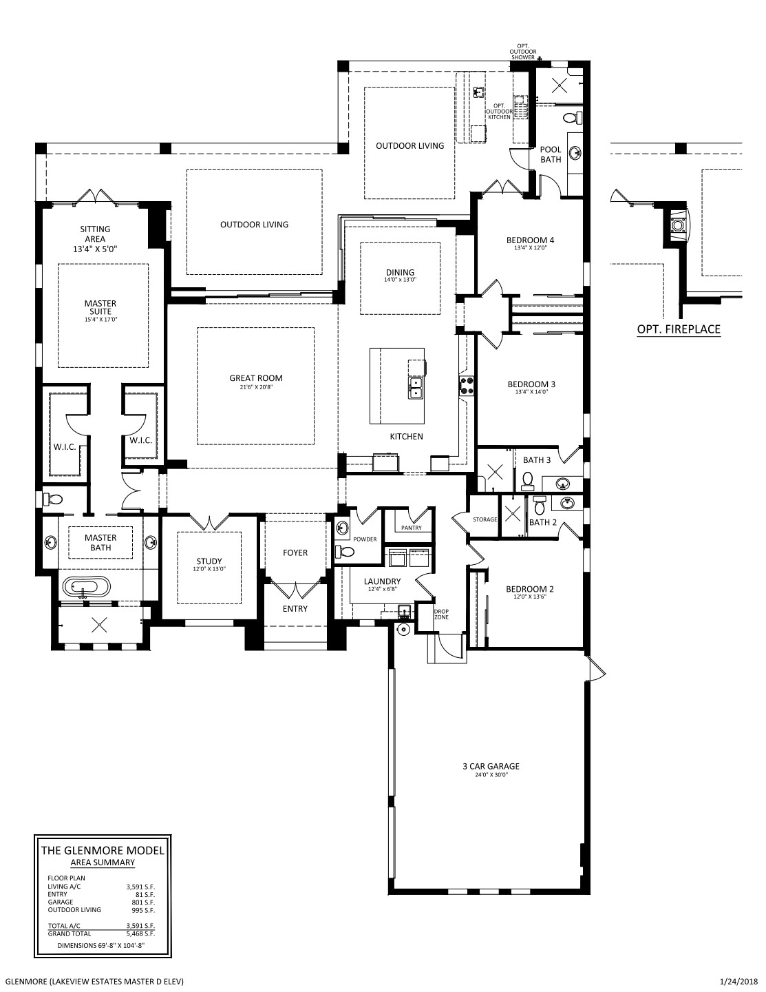 Glenmore Floor plan