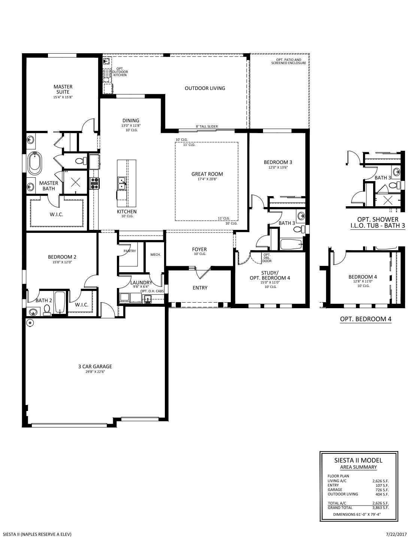 Siesta II Floorplan