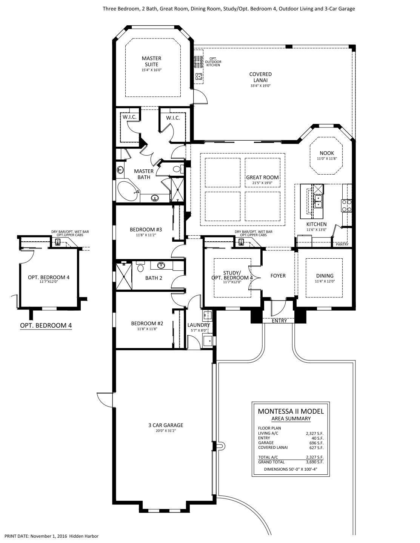 Montessa II Floorplan