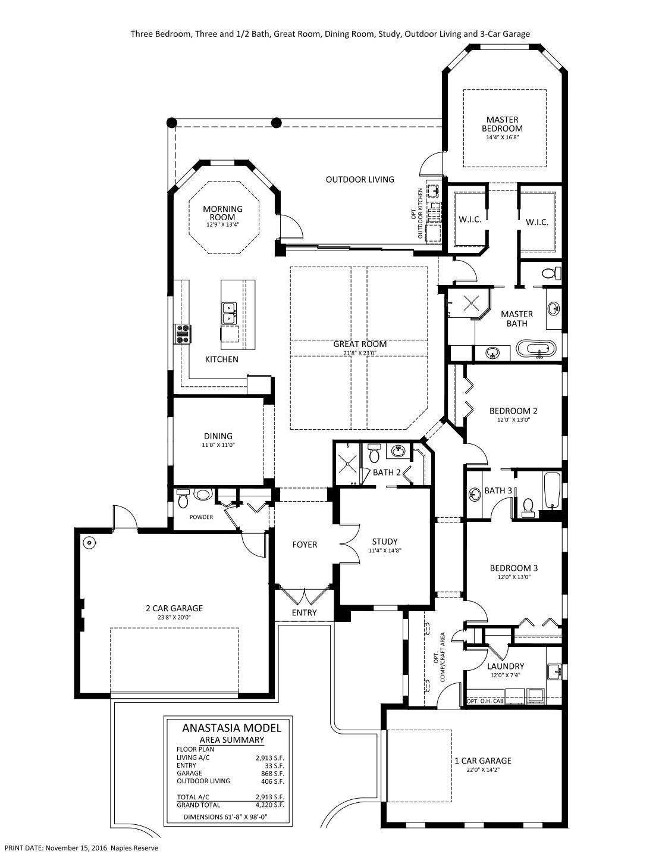 Anastasia Floorplan