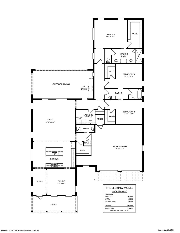 Sebring Floorplan