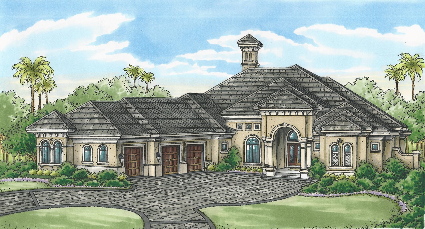 Florida Lifestyle Homes' Cambridge Under Construction in Quail West