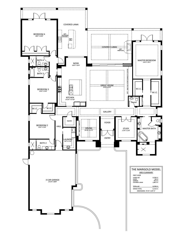 Marigold Floorplan
