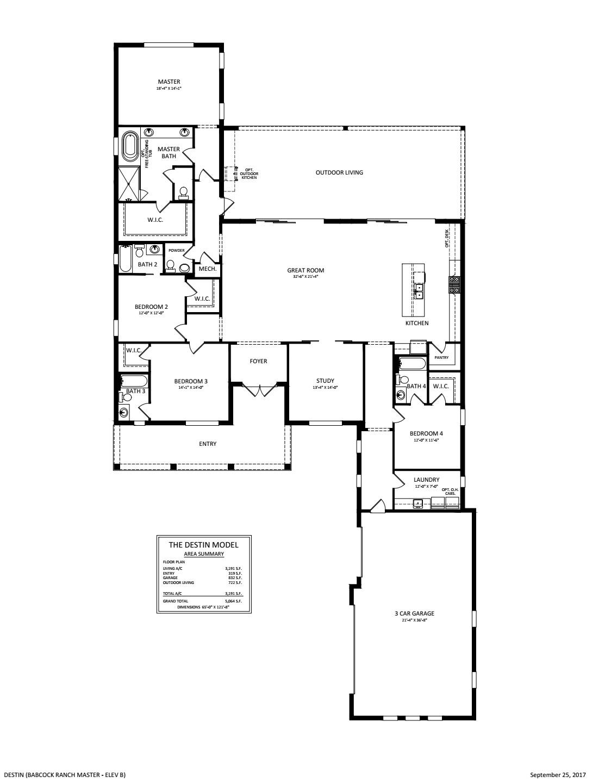 Destin Floorplan
