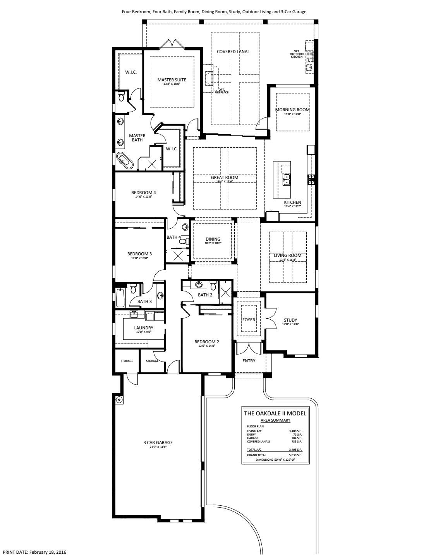 Oakdale II Floorplan