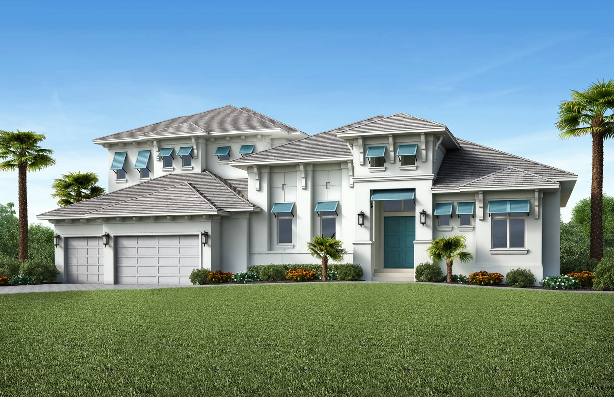 Stock Signature Homes' Polynesia Model on Marco Island on Schedule
